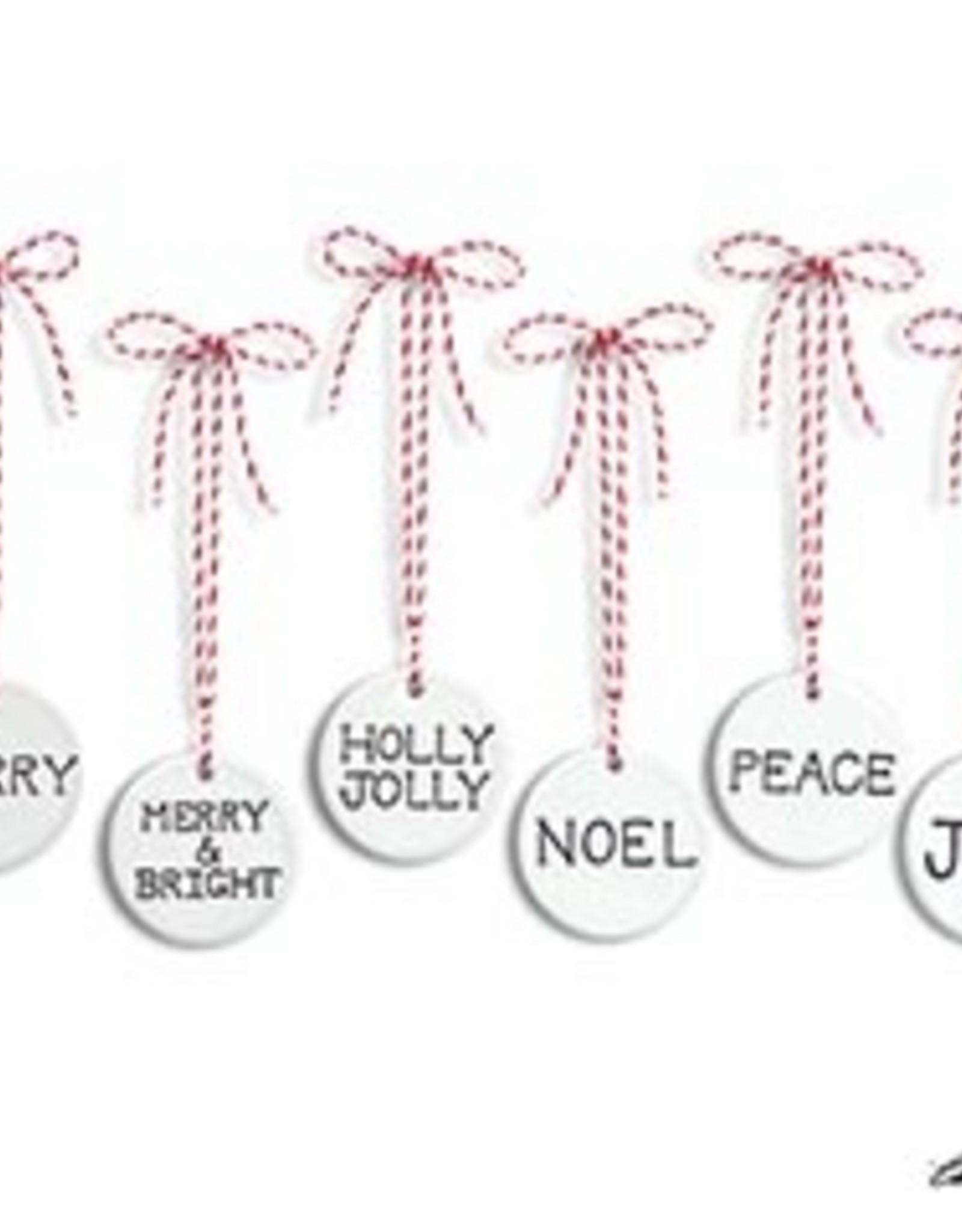Wink Ornament Disc - Merry