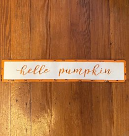 Wink Hello Pumpkin Wall Sign