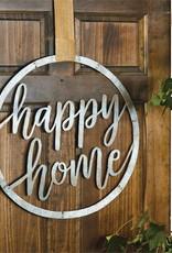 Mud Pie Happy Home Tin Door Hanger