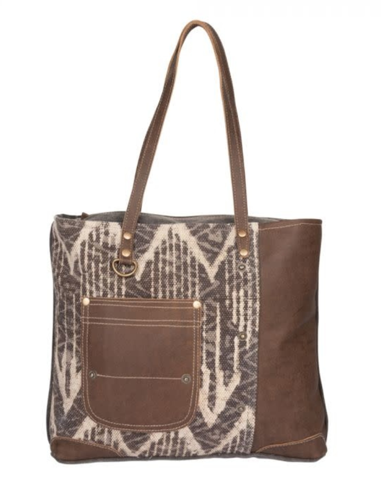 Wink Brown Canvas Tote