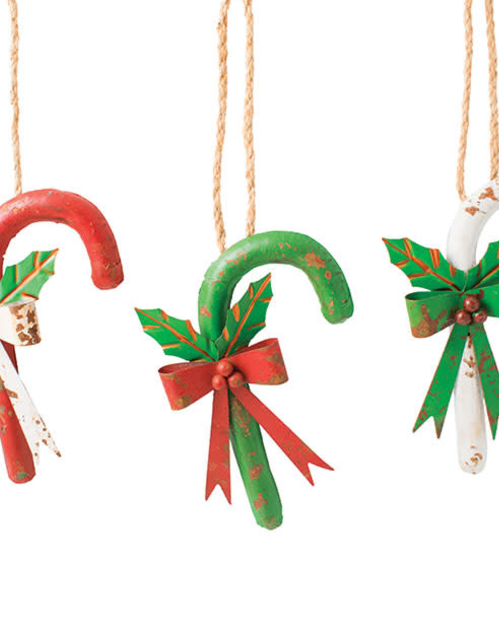 Wink Distressed Candy Cane