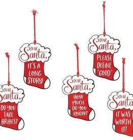 Wink Dear Santa Ornament