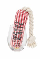 Wink Merry & Bite Wine Glass and Dog  Rope Toy Set