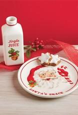 Mud Pie Santa Milk and Cookie Set