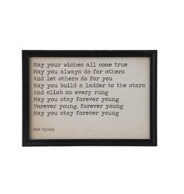May Your Wishes Come True Wall Plaque
