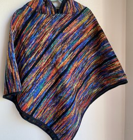Wink Striped Hooded Poncho