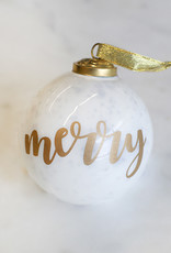 Wink Merry Glass Ornament