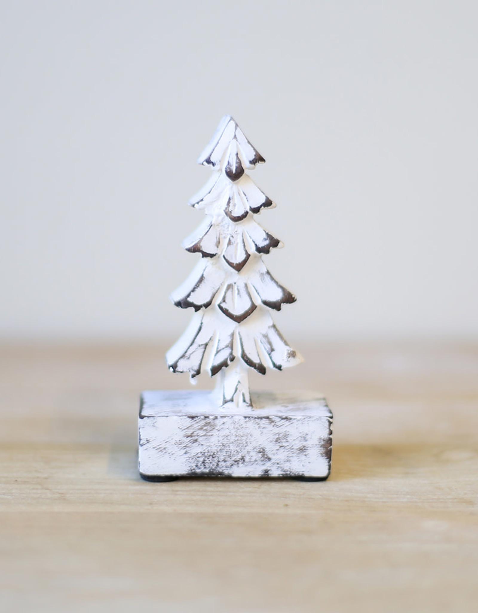 "Wink 5"" Antique White Spruce Tree"