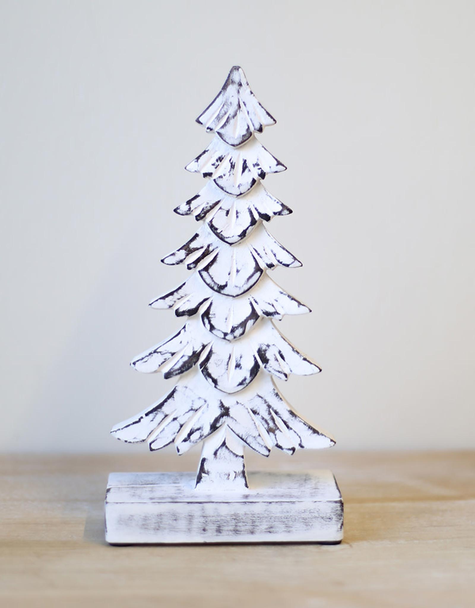 "Wink 10"" Antique White Spruce Tree"