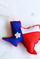 Wink Texas Flag Beaded Ornament