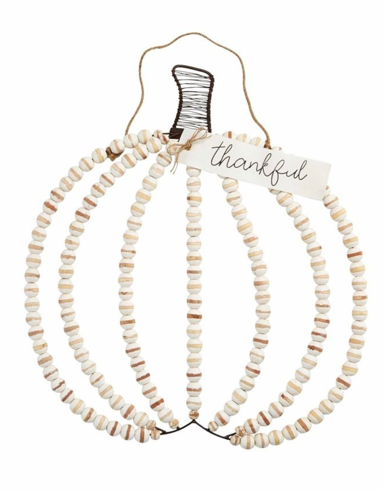 Wink WOOD BEAD PUMPKIN HANGER