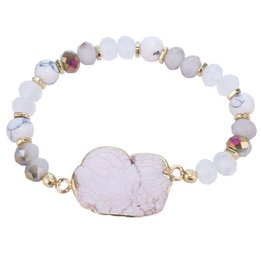 Wink Natural Stone with Crystal Beads Bracelet