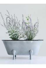 Wink Large Gray Enamel Bath Tub