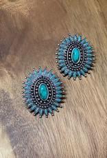 Wink Western Design Natural Stones Stud Earrings