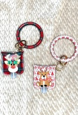 Wink Holiday Wristlet with Keychain Sanitizer Case