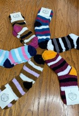 Wink Cozy Socks with Stripes