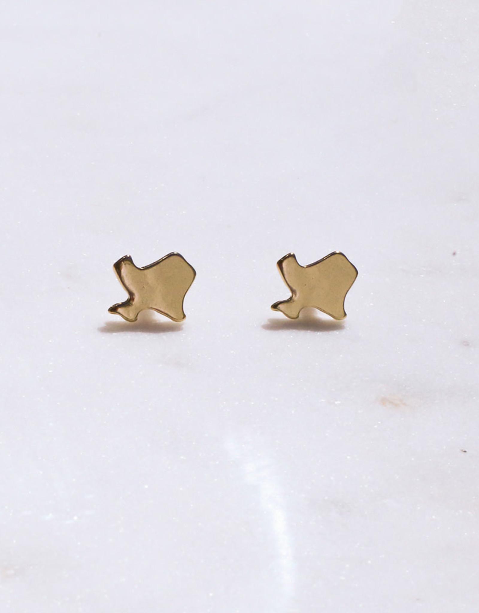Wink RS Gold Texas Stud Earrings