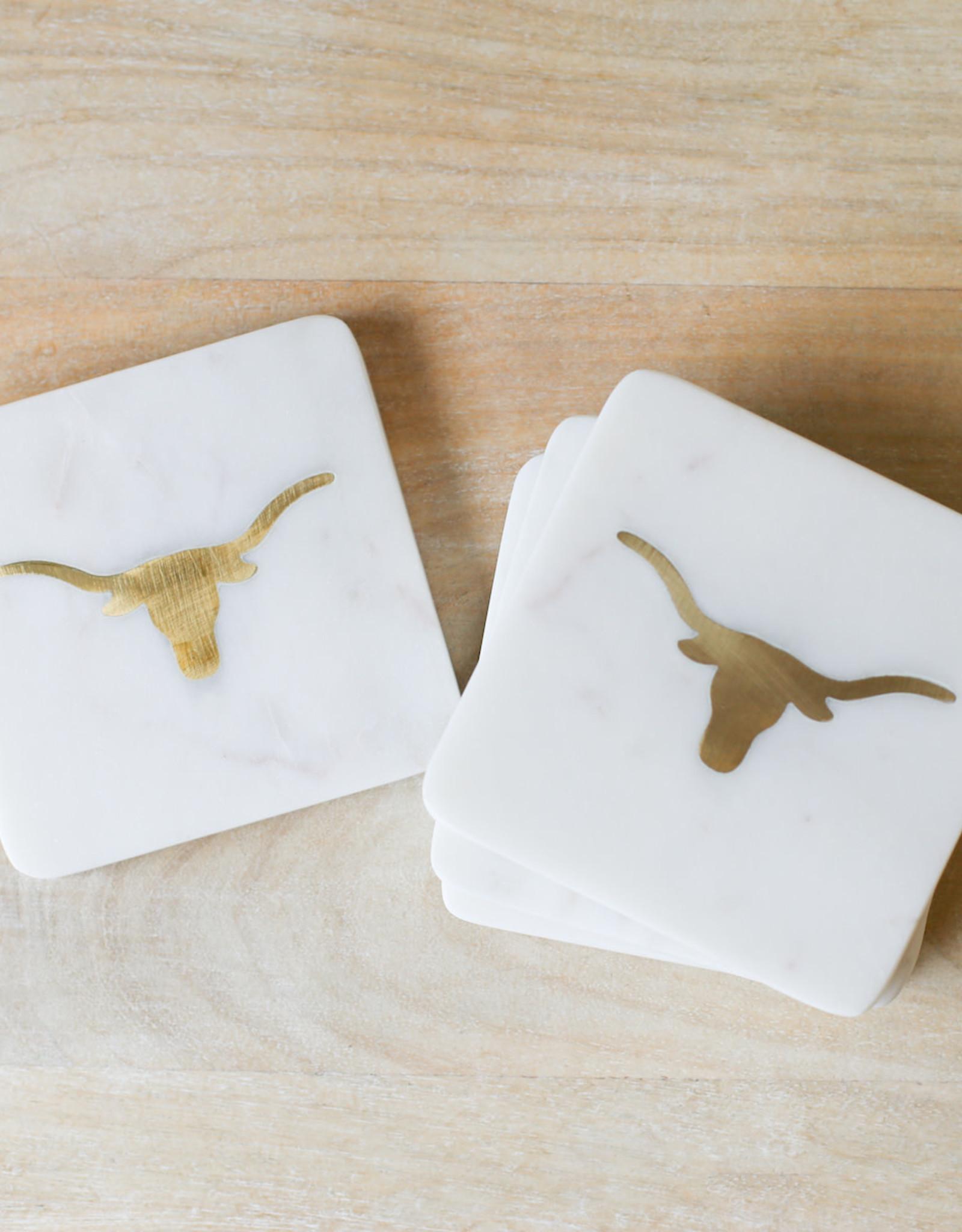 Wink Longhorn  Marble Coasters