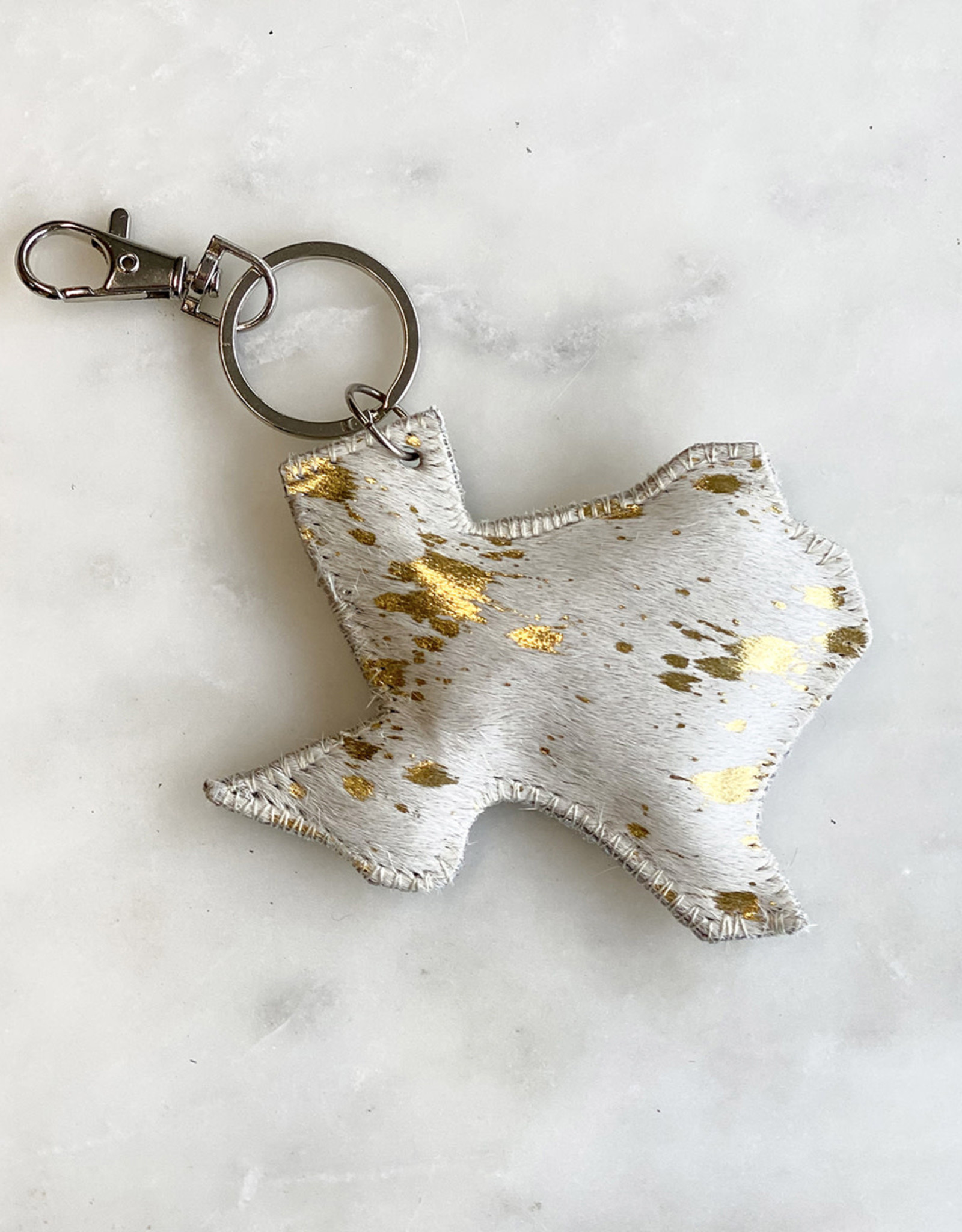 Texas Hair On Keychain
