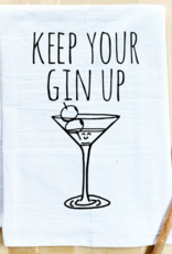Wink Keep Your Gin Up Dish Towel