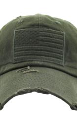 Wink Unisex American Flag distressed baseball  cap-digital camo