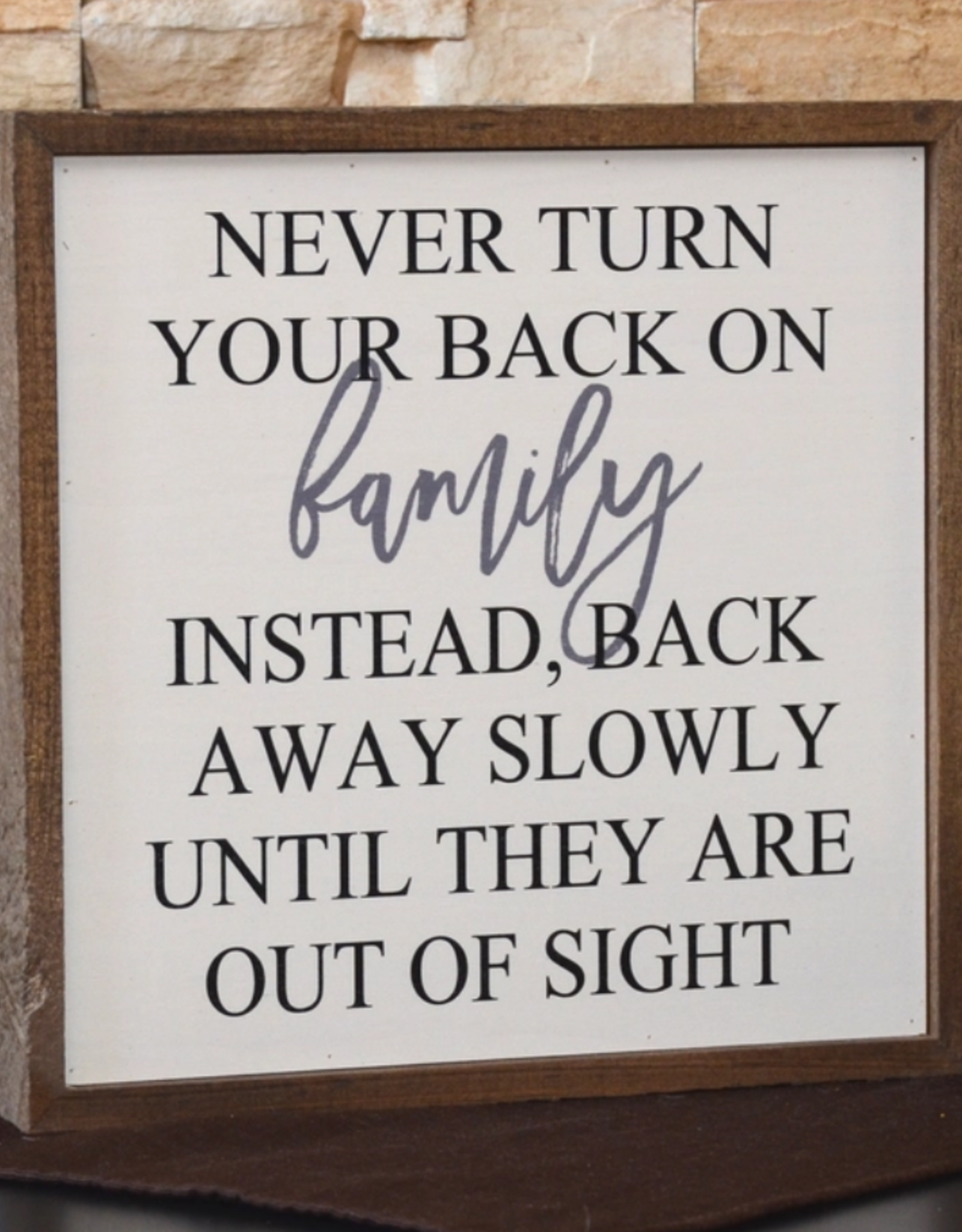 Wink Never Turn Your Back on Family