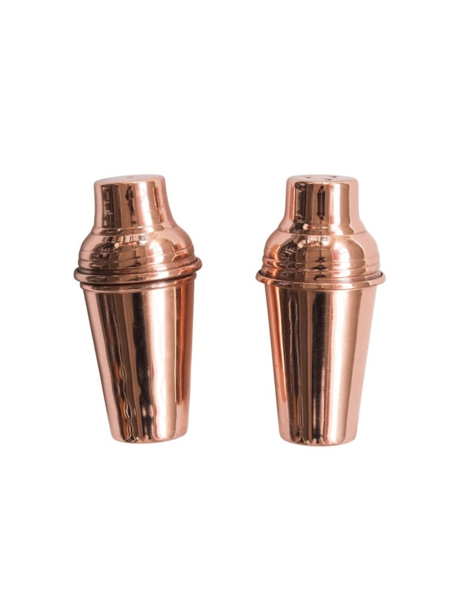 Wink Stainless Steel Salt & Pepper Shaker w/Copper Finish
