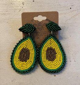 Wink Beaded Avocado Earrings