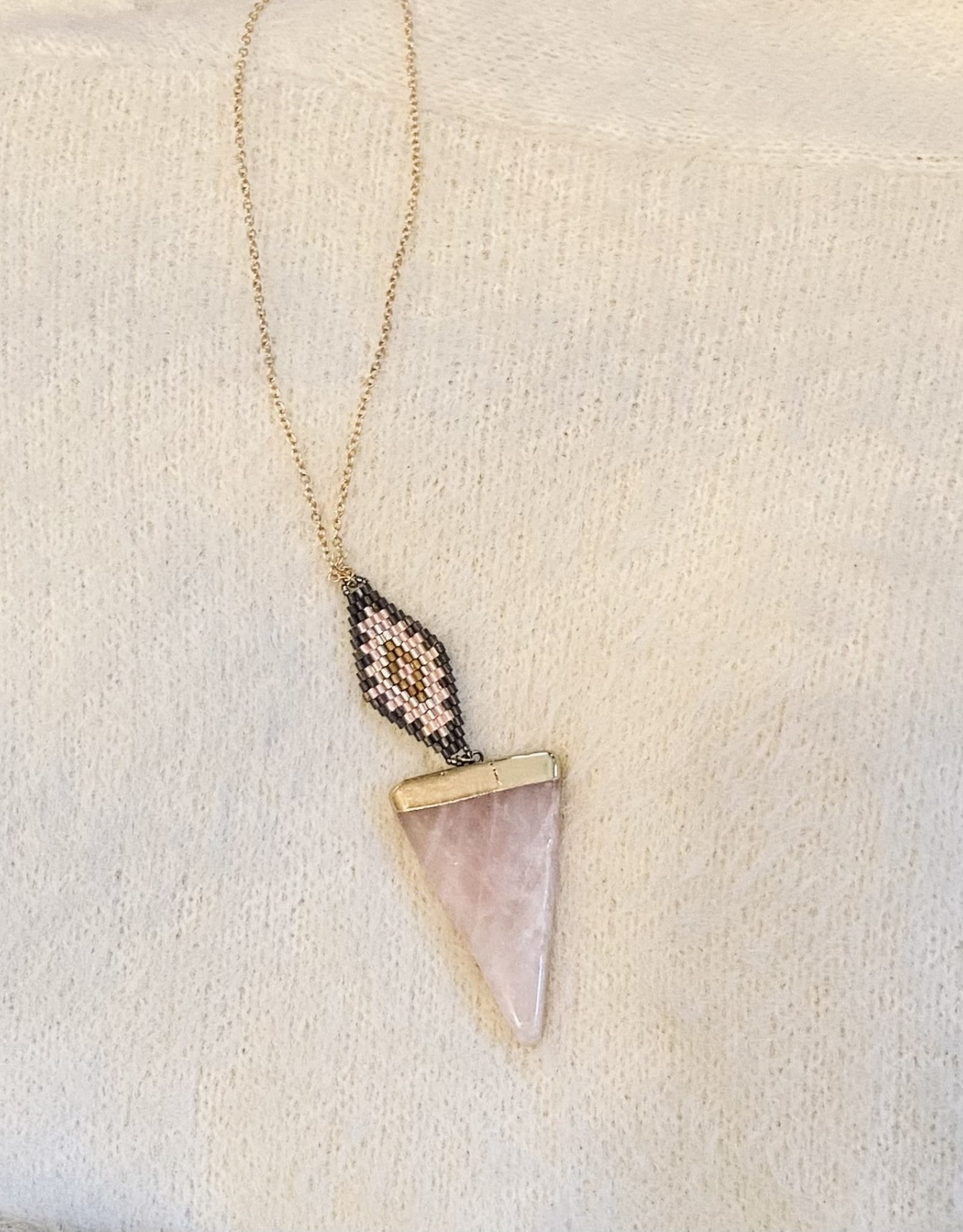 Saige necklace-Pink Stone