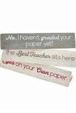 Mud Pie Best Teacher Sentiment Turner