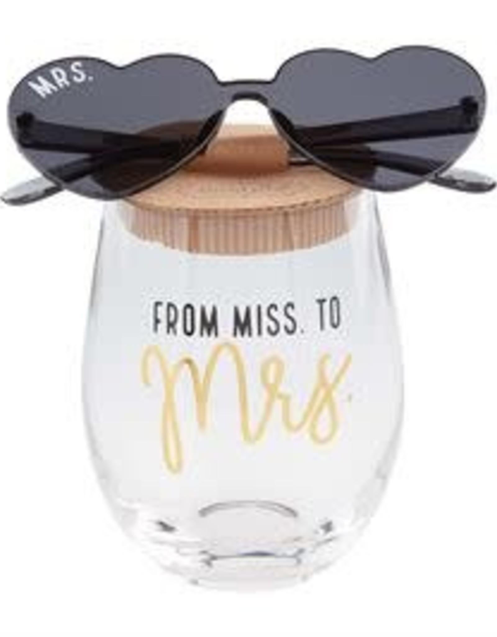 Wink Bride Wine Glass & Sunglass Set
