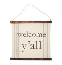 Wink Welcome Y'all  Wall Hanging
