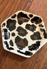 Wink Leopard Trinket Dish Tan/Black/Brown 4 inches