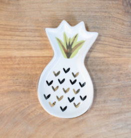 Wink Pineapple Dreams Trinket Dish White/Gold/Lime