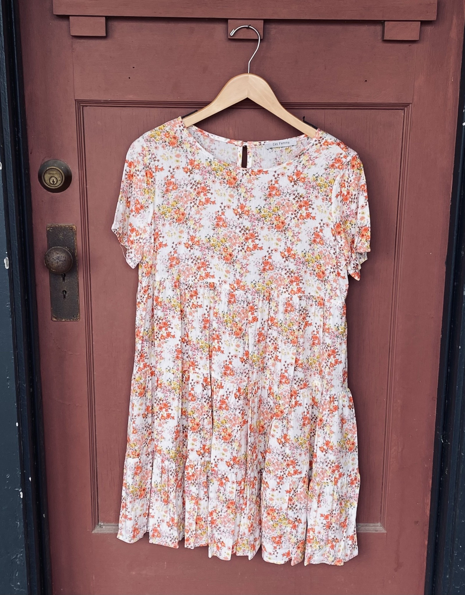 Wink Floral Babydoll Tunic Dress