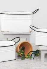 Wink White Antique Tub Planter - Medium