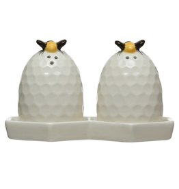 Wink Honeycomb Salt and Pepper Shaker Set