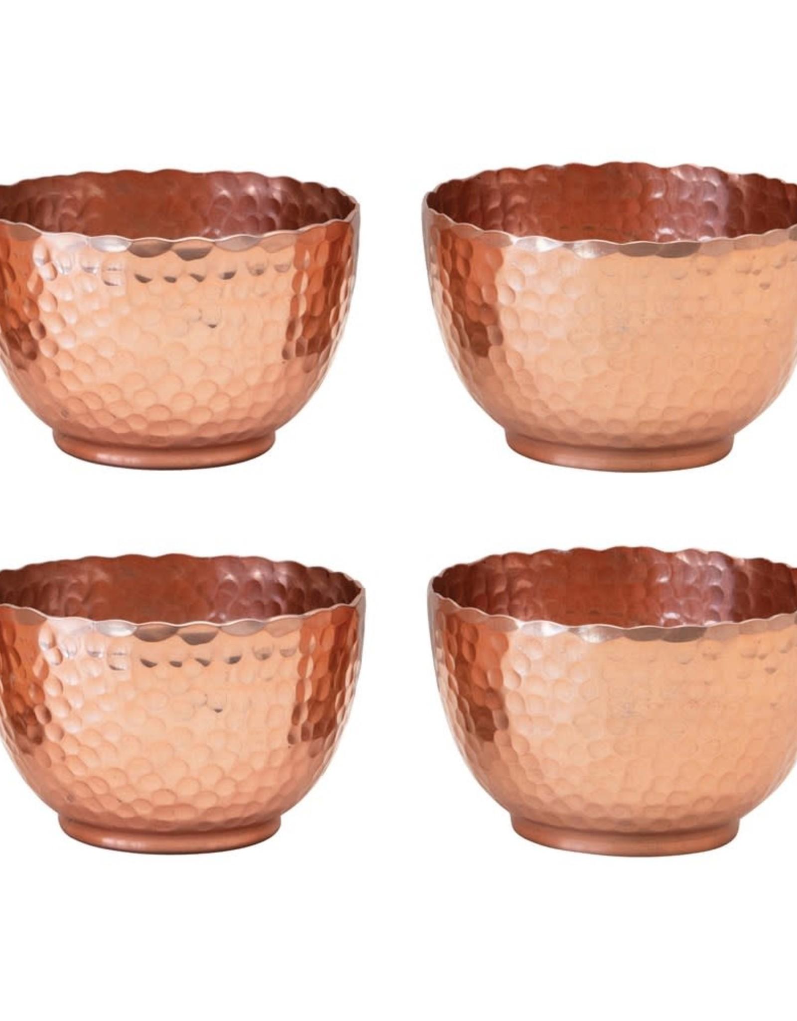 Wink Hammered Copper Bowl Set