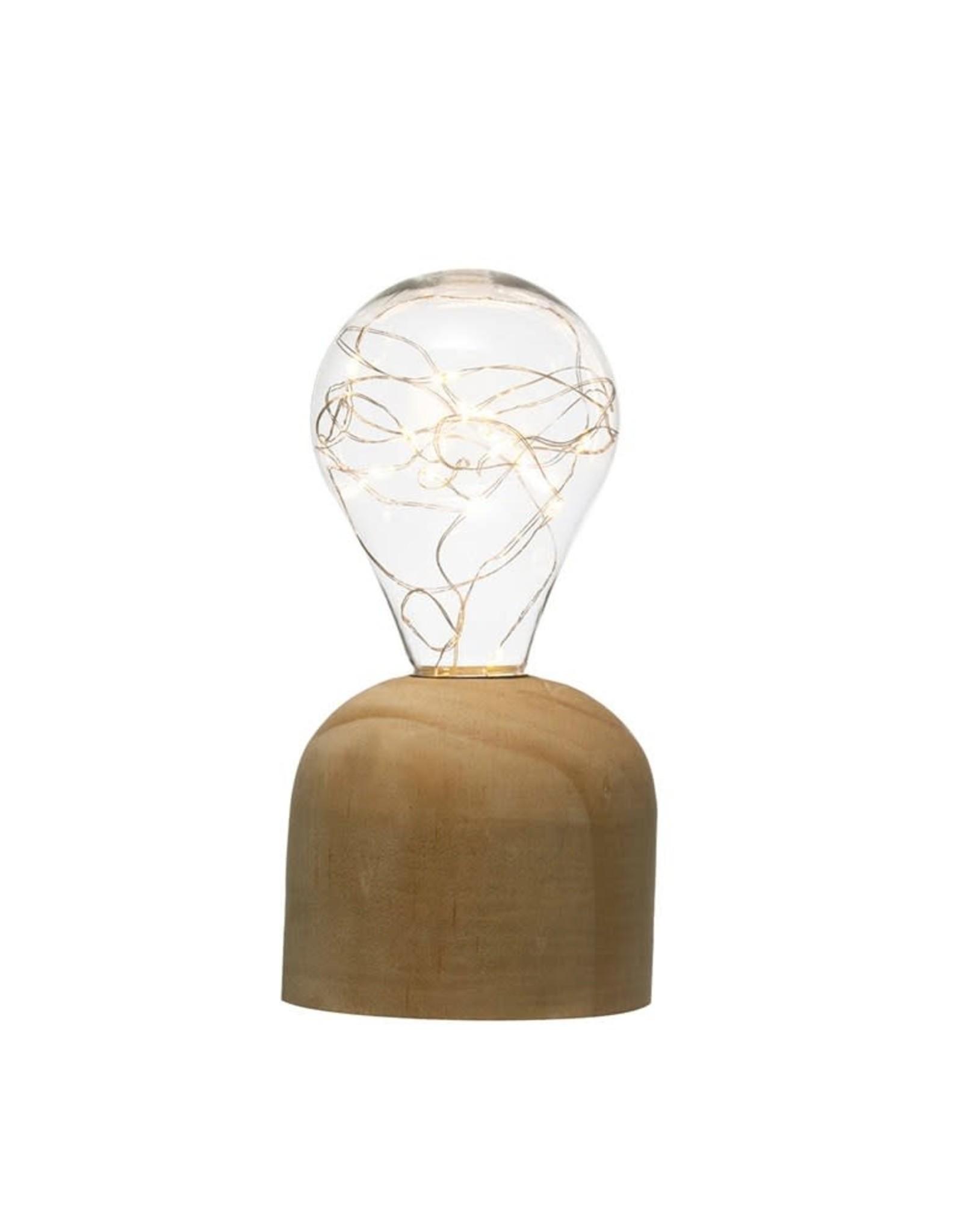 Wink Wooden Base Bulb Light