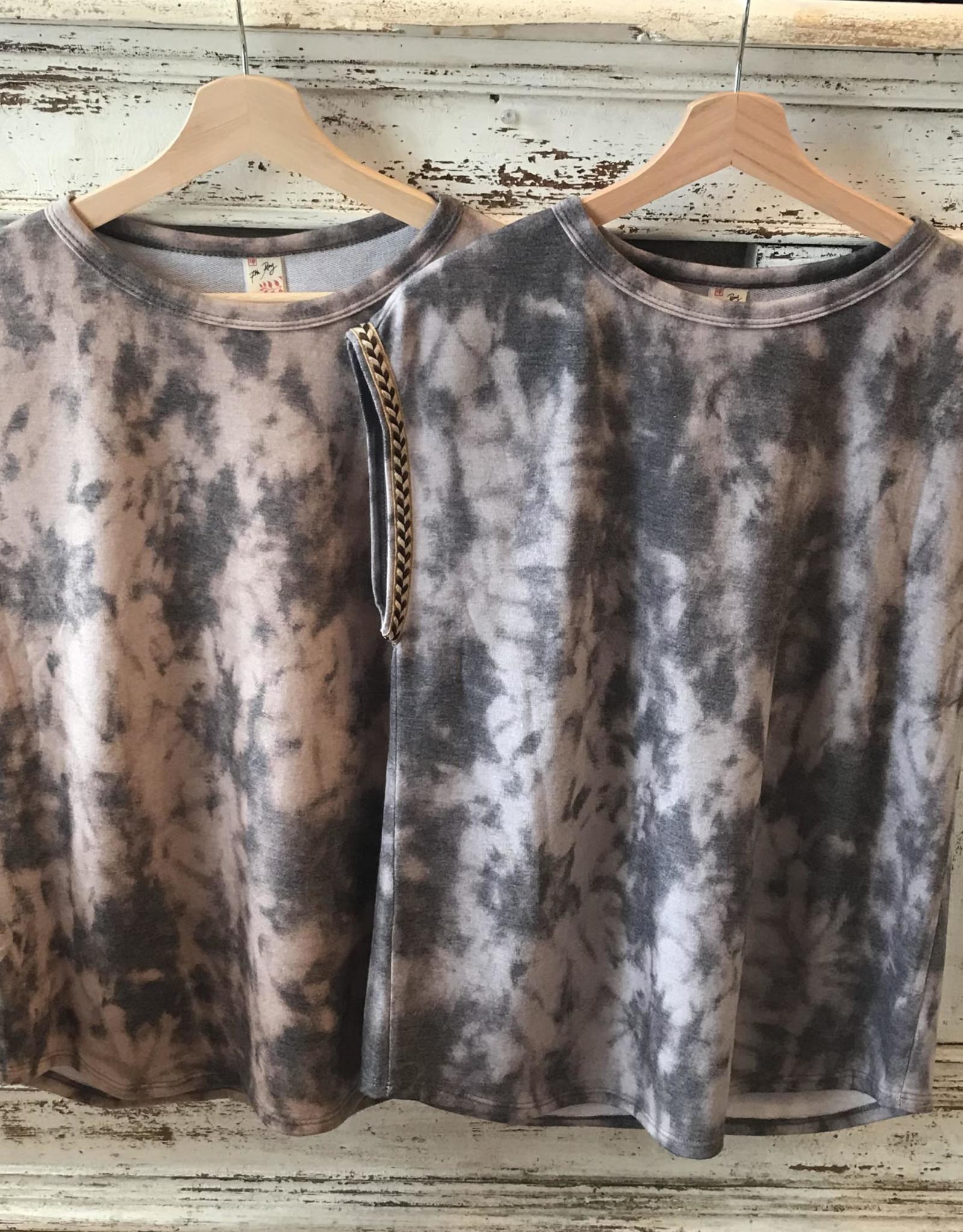 Wink Jacquard Short Cap Sleeve Tie Dye Tunic