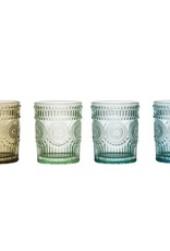 Wink Set of 4 Embossed Drinking Glasses