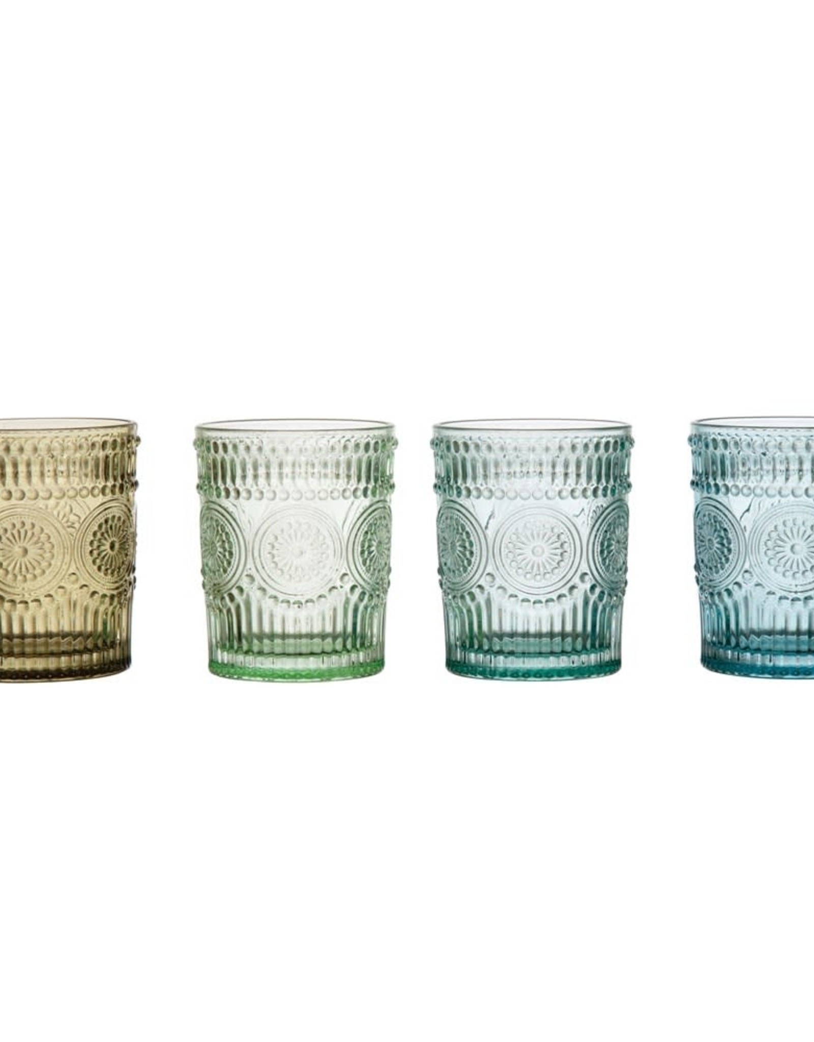 Wink Set of 4 Embossed Drinking Glasses