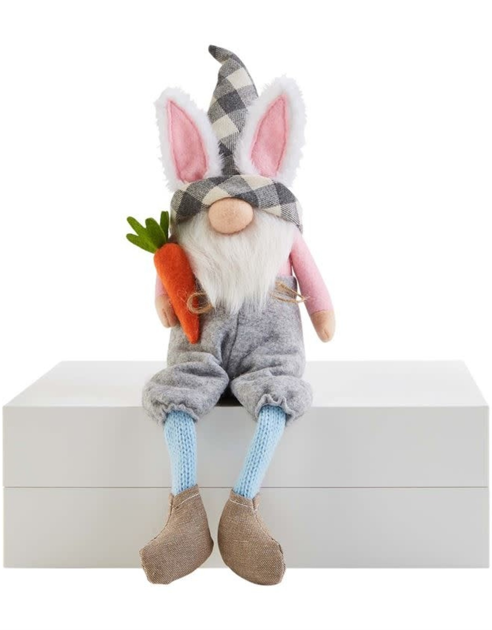 Wink Carrot Dangle Leg Gnome
