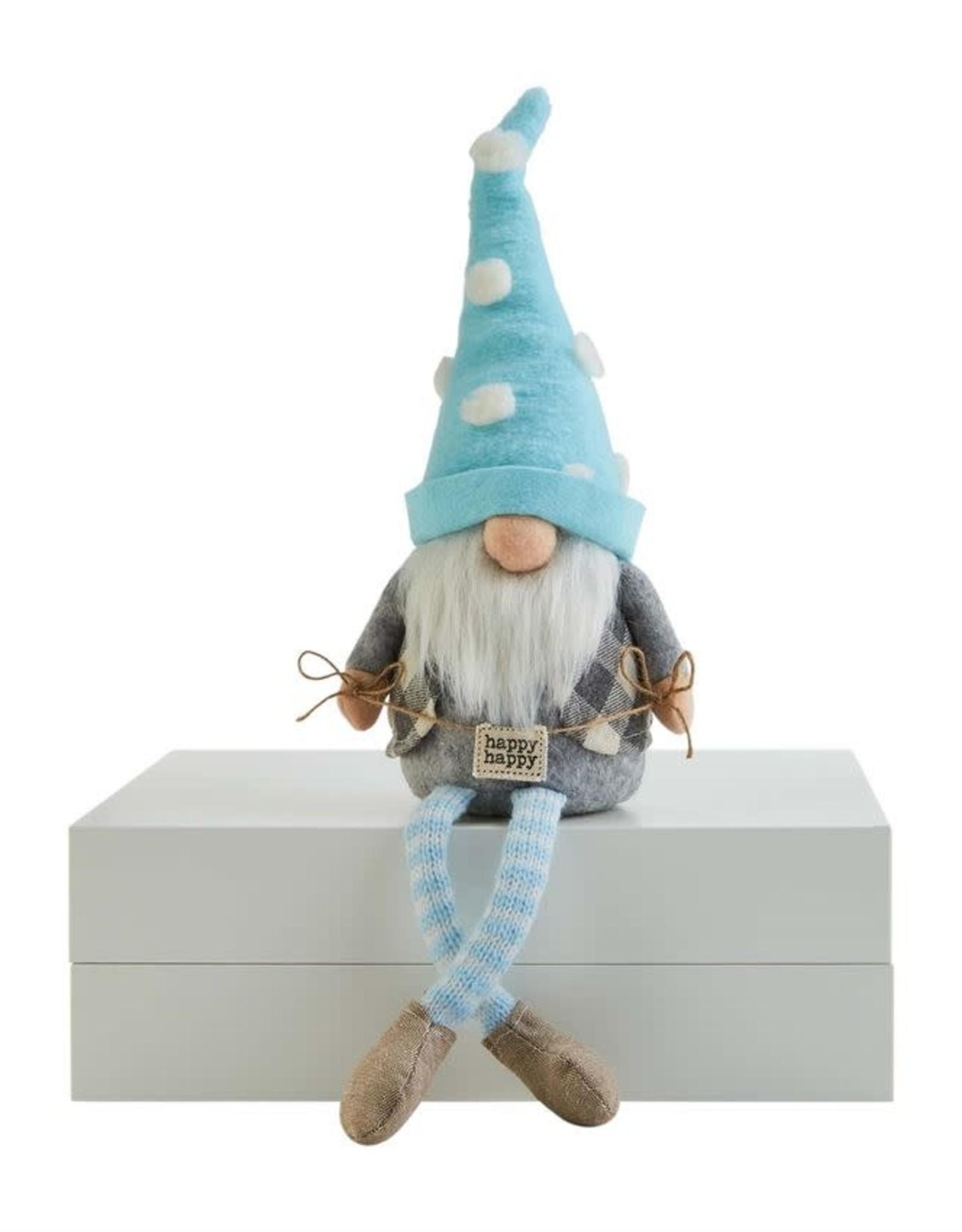 Wink Happy Sign Dangle Leg Gnome
