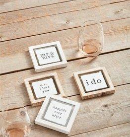 Wink Wedding Coaster Set