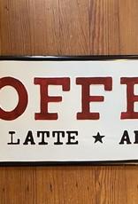 Wink Metal Coffee Sign