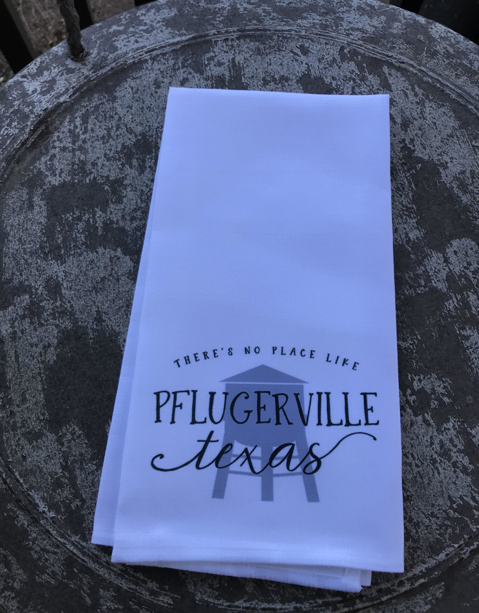Wink There's No Place Like Pflugerville Texas Tea Towel