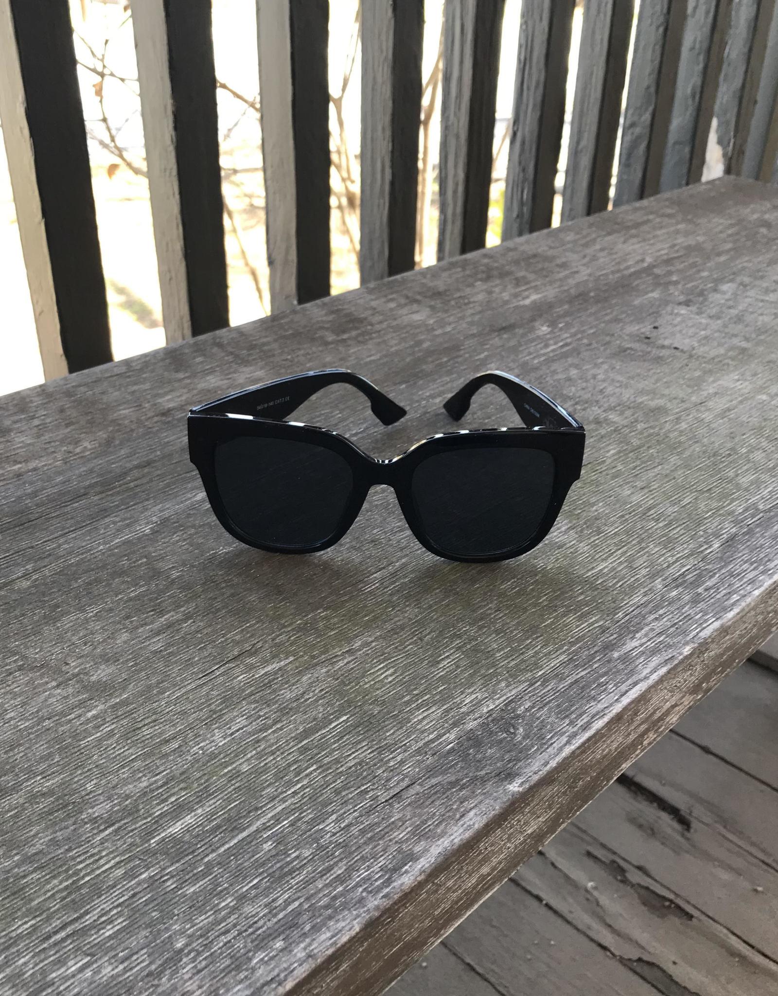 Wink Black Fashion Sunglasses