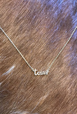 Wink Texas Script Necklace-Gold