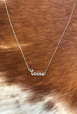 Wink Texas Script Necklace-Silver